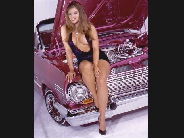 Chevrolet Impala Convertible Caliber Fonzy Mural further Zoom Jennifer Flores Sitting On Radiator Support In A Revealing Purple Dress further Lrms O Zuleyka Lowrider Girls Model likewise Lrmp O Lowrider Readers Rides Cadillac Fleetwood moreover Lrmp O Cadillac Fleetwood Lifted Front. on cadillac fleetwood lowrider