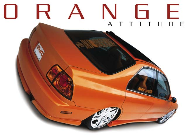 1997 Orange Honda Accord Featured Custom Cars Lowrider Euro Magazine