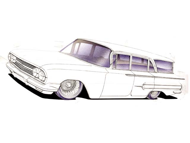 How to Draw a 1960 Chevy Impala - Lowrider Arte Magazine