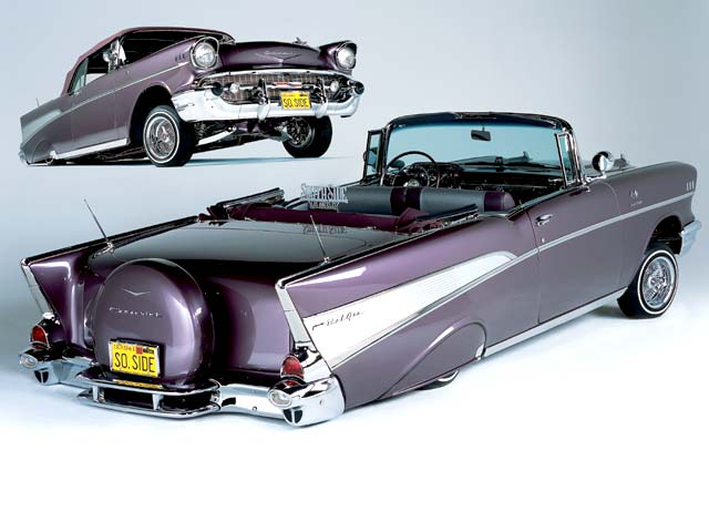 Z Chevrolet Bel Air Convertible Front And Rear View