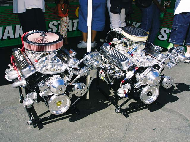 Our two giveaway engines were on hand for all to view.