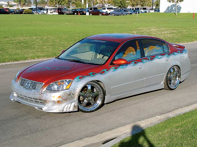 project nissan altima exterior makeover lowrider edge magazineNissan Altima Lowrider #2