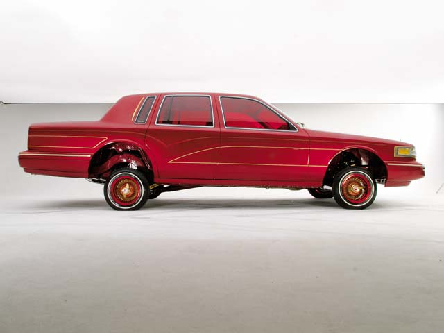 1993 Lincoln Town Car Red Wine Lowrider Magazine