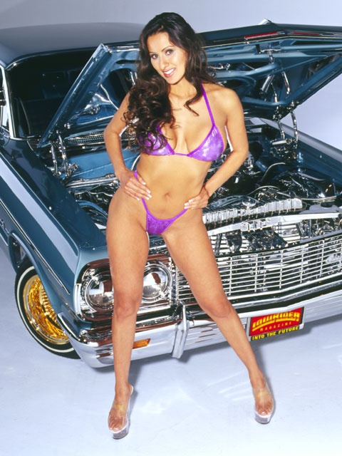 Lowrider Model Renee Aquilar Nov 2003 Lowrider Magazine