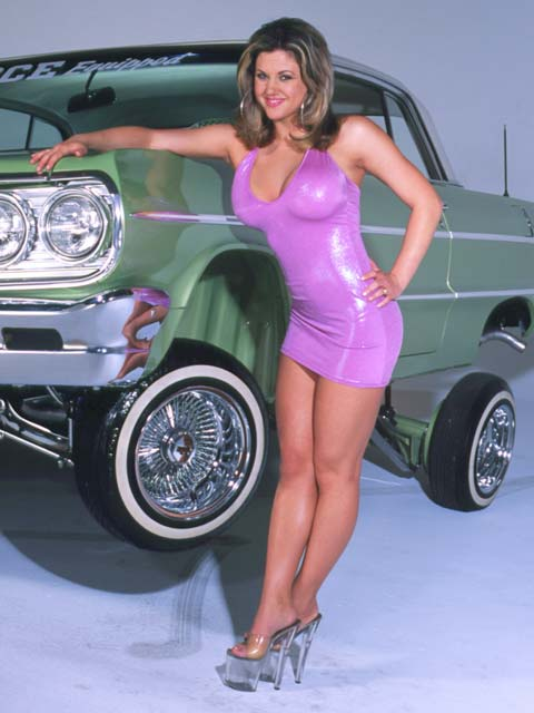 Lowrider Model - Melanie Perez - Jan 2004 - Lowrider Magazine