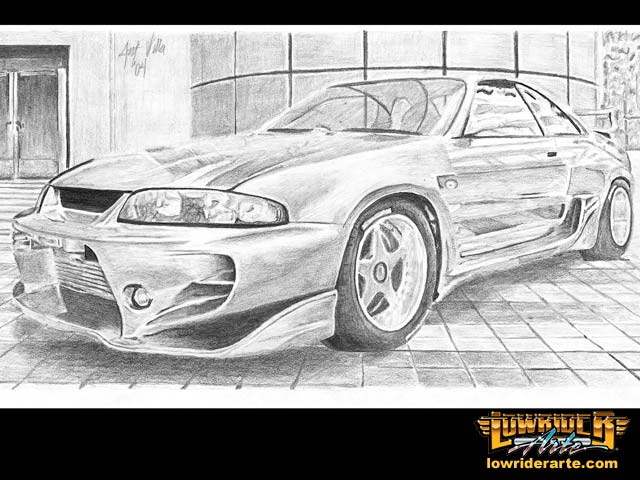 Lowrider Car Drawings, Paintings, and Pictures - Lowrider ...