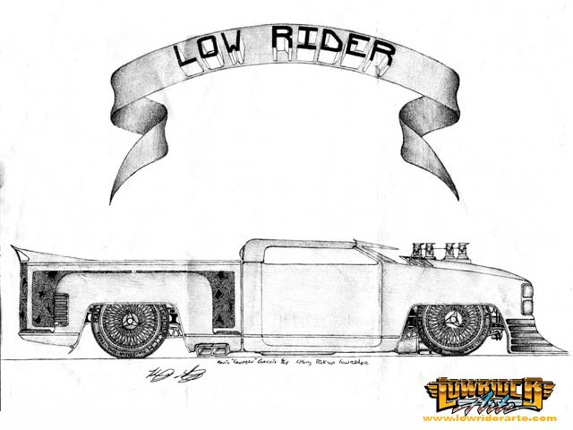 lowrider car drawings  paintings  and pictures march 2006