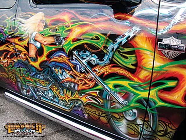 Chevy San Antonio >> Metal Tapestry - Car Murals - Airbrush Art and Custom Paint Graphics - Lowrider Arte Magazine