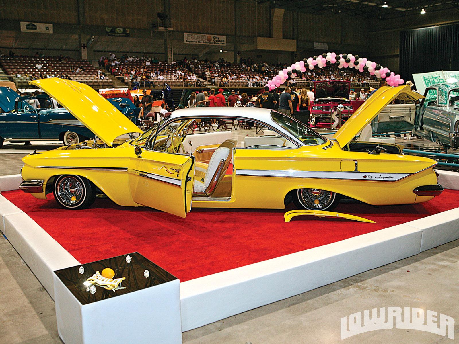 Lrmpopueblocoloradocarshowyellowimpala Lowrider - Pueblo car show