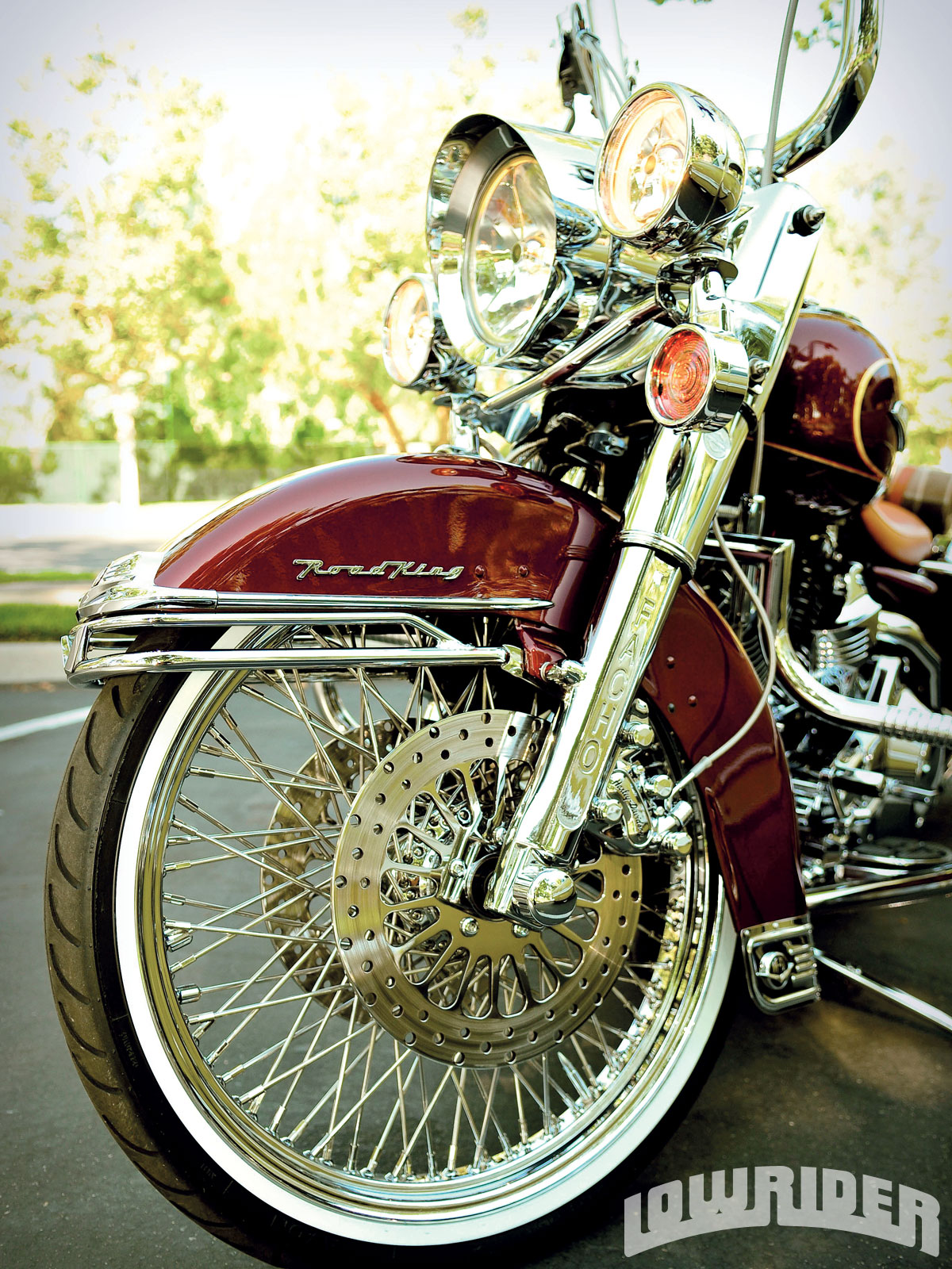 1953 Chevrolet Bel Air and 2004 Harley Road King ...