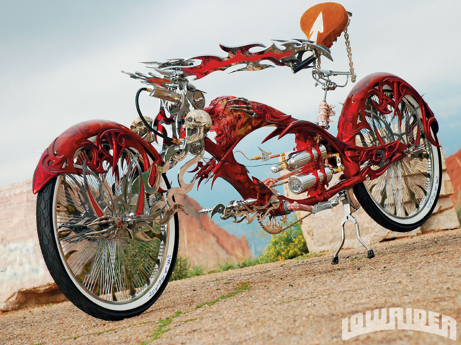 2008 Stretch Beach Cruiser Lowrider Magazine