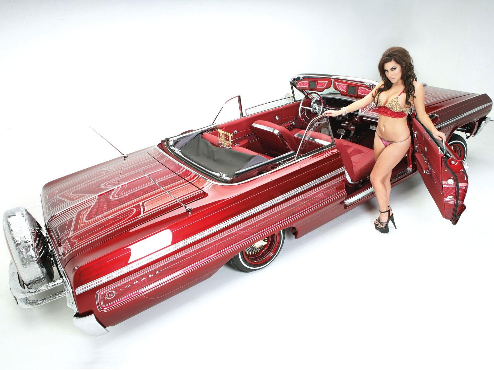 Lrms O Mary Cherry Lowrider Girls Model on 2011 Chevy Impala 3 5