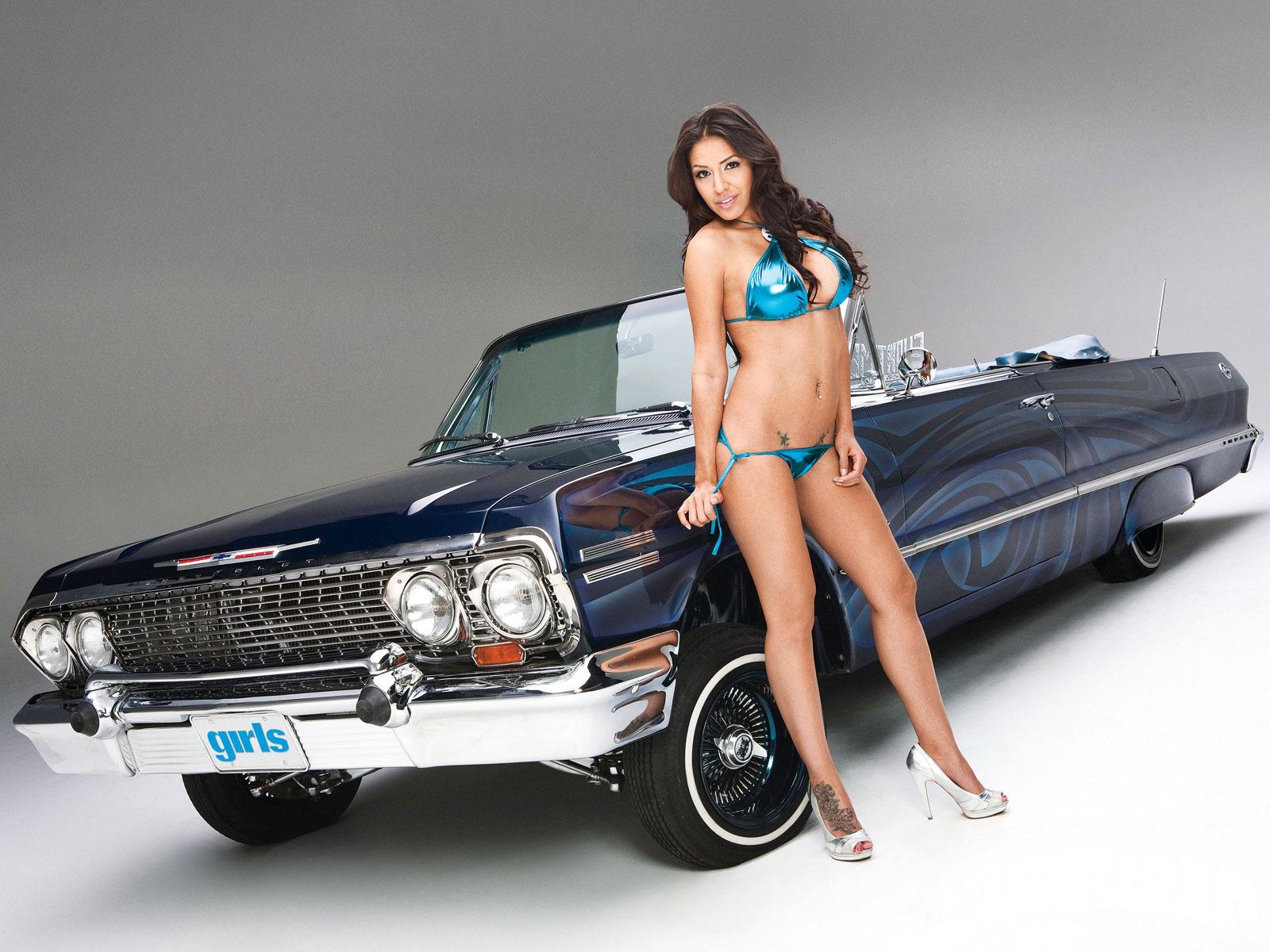 Lowrider latina girl models