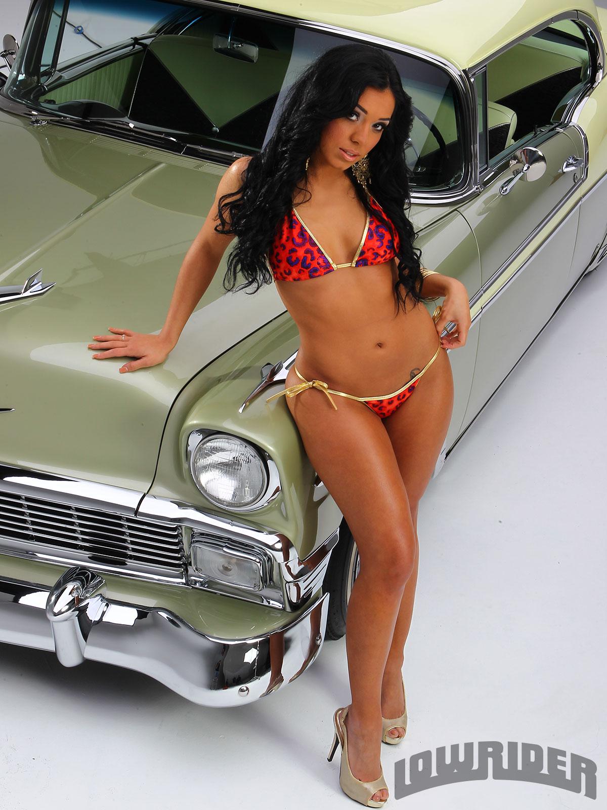 Lowrider Girl Cynthia Sin Rodriguez on 2019 Chevy Silverado