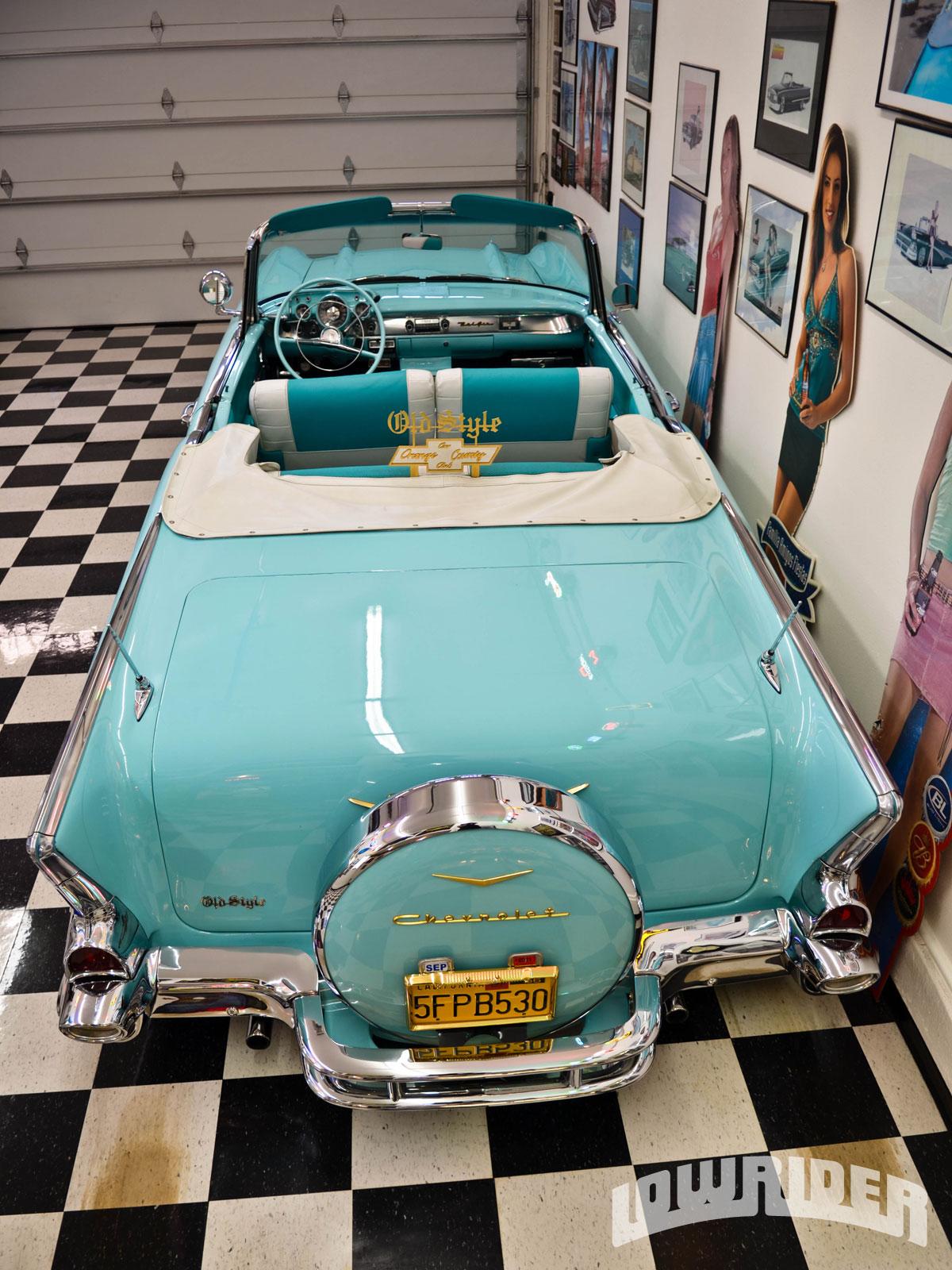 1957 Chevrolet Bel Air Convertible Lowrider Magazine 1966 Rear View 12 17