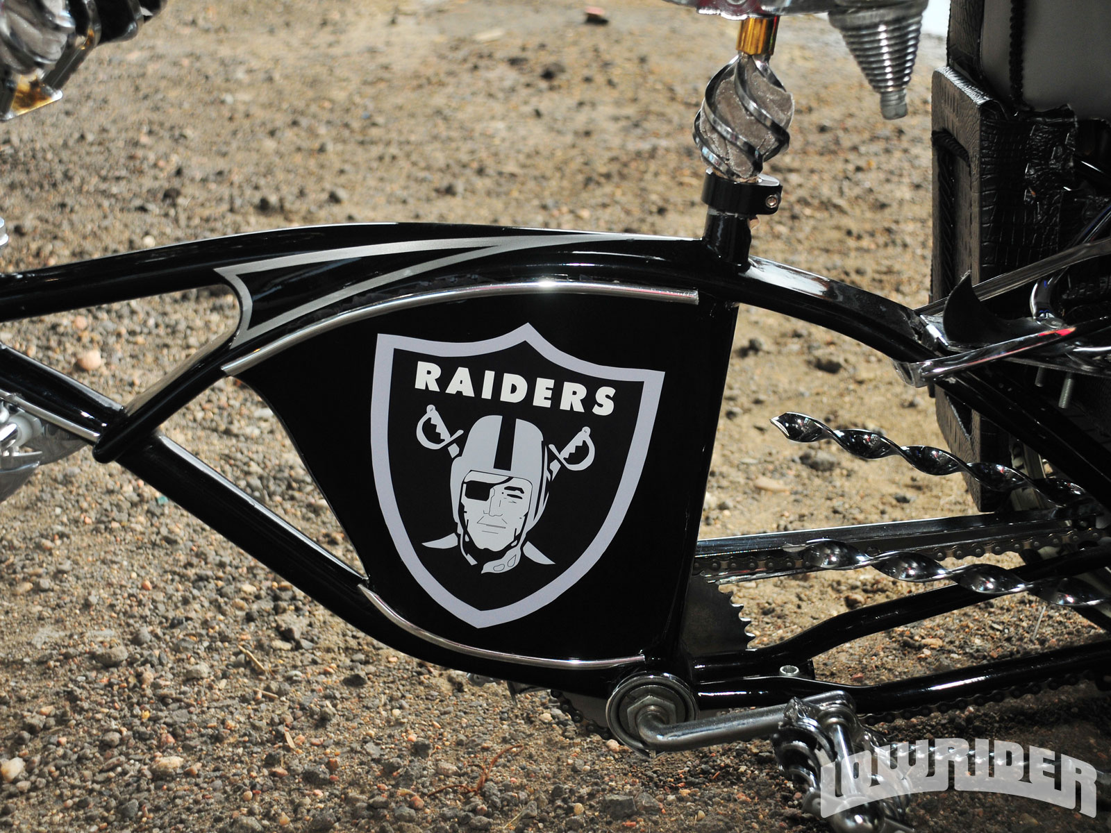 Custom Oakland Raiders Themed Schwinn Frame Lowrider