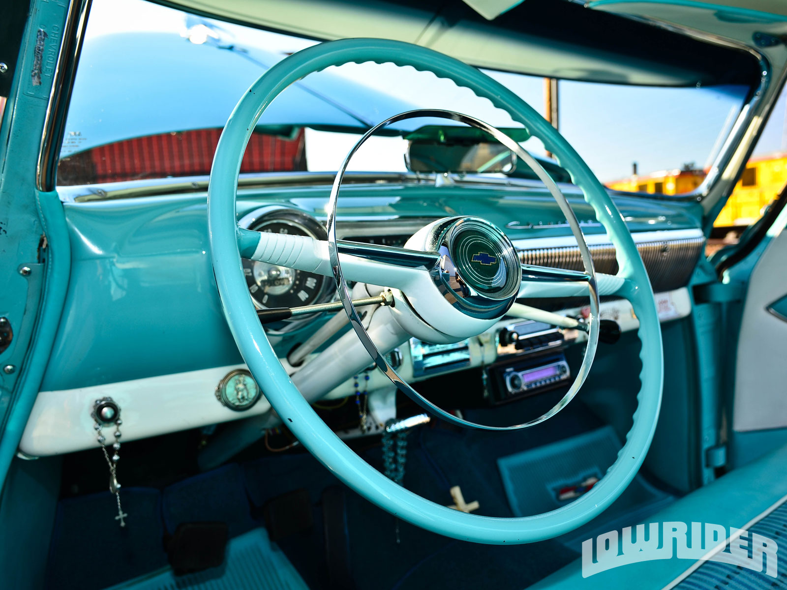 Blue Diamond - 1953 Chevrolet Bel Air - Lowrider Magazine