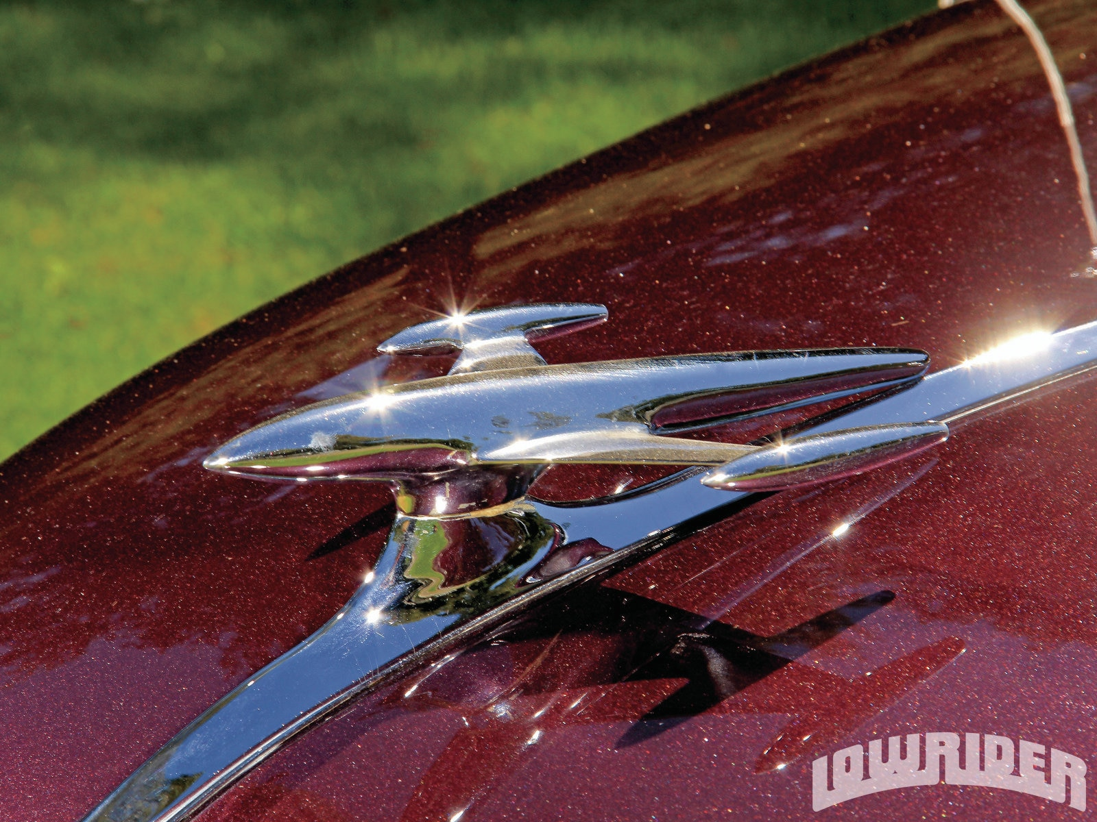 1212 Lrmp 03 O 1952 Gmc 1500 Pickup Hood Ornament Lowrider