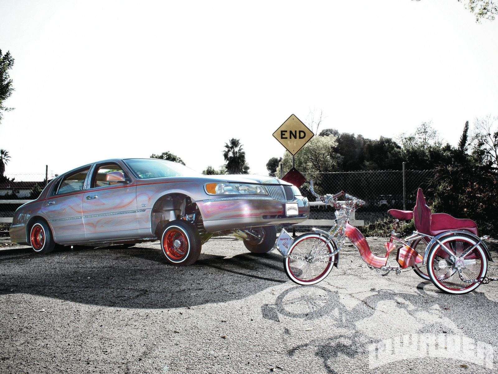 1999 Lincoln Towncar And A 1976 Schwinn Trike Lowrider Magazine