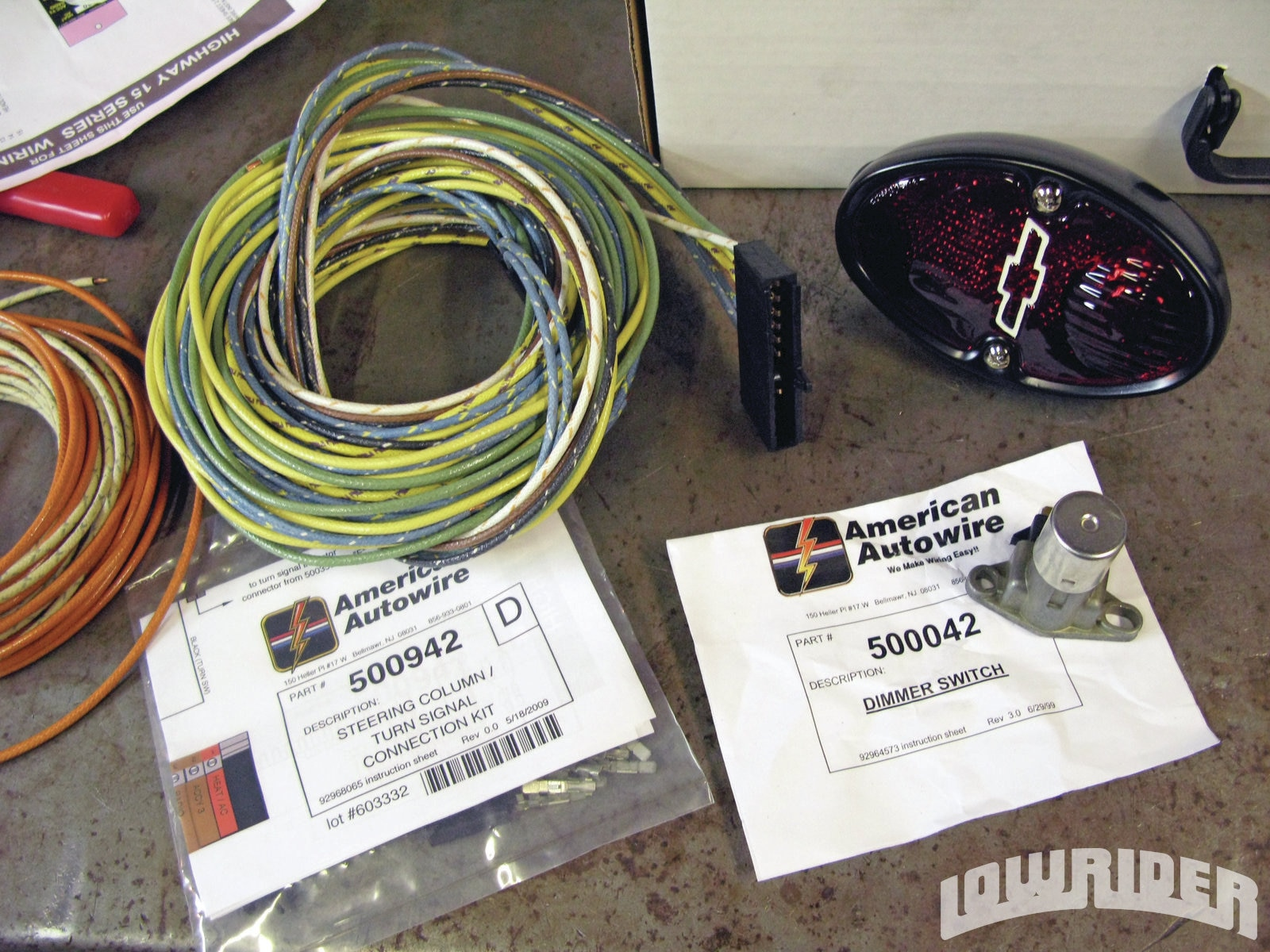 American Autowire Highway 15 Nostalgia Wiring Kit Lowrider Magazine Electric Brake Size Instructions 25 33