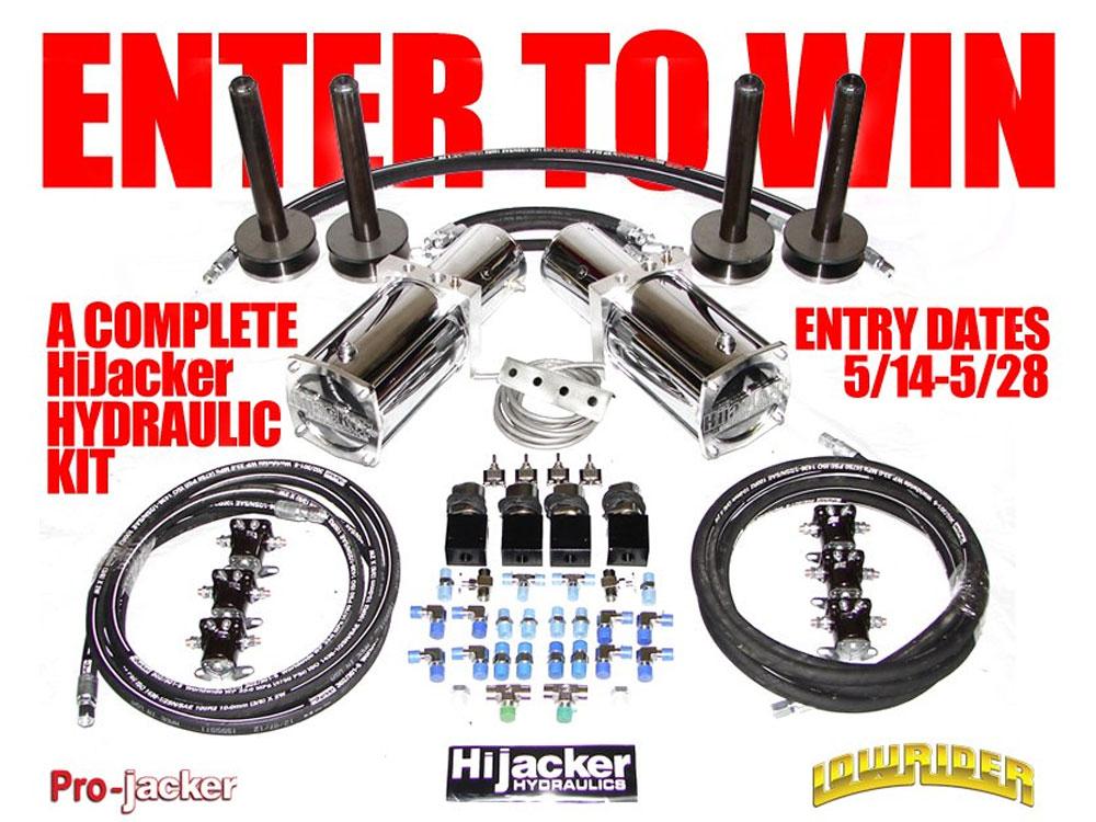 Hydraulic Life Support : Hijacker hydraulic kit giveaway lowrider magazine