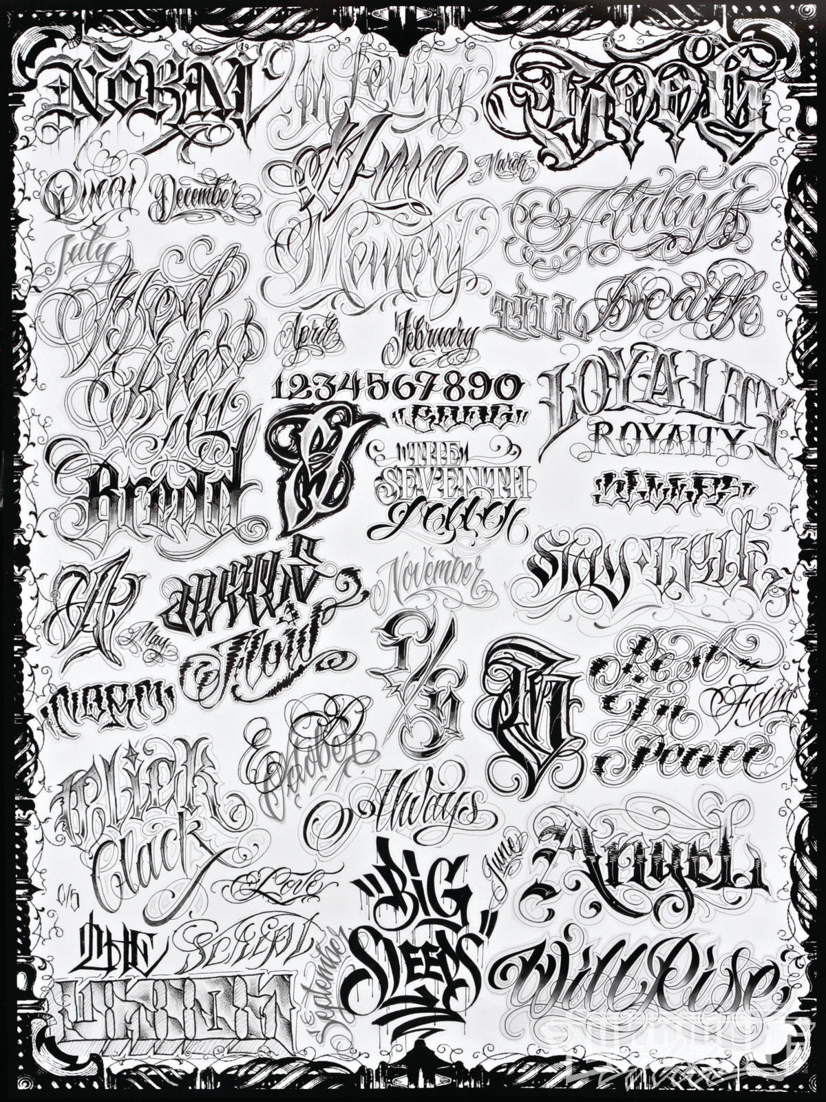 tattoo lettering alphabet norm feature artist lowrider arte magazine 12750 | 1305 lras 20 o norm tattoo and graffiti tattoo art