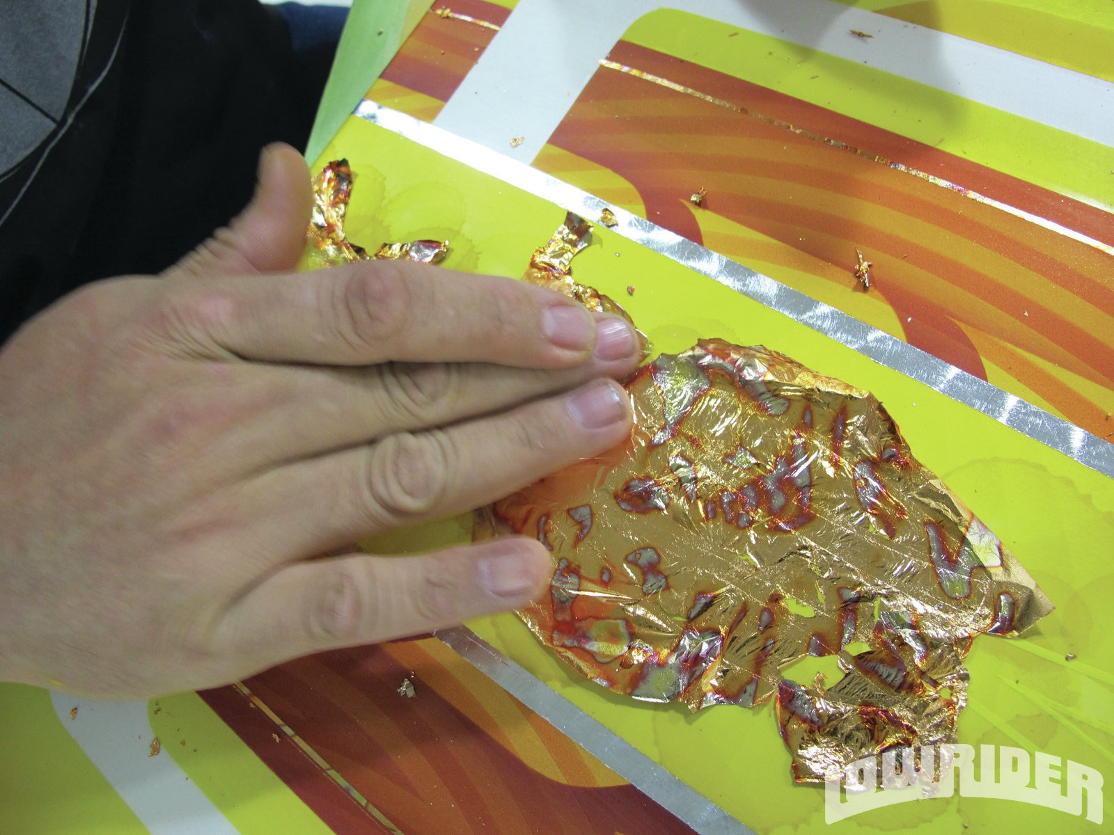 <strong>24</strong>. This is a look at how gold leafing is applied.