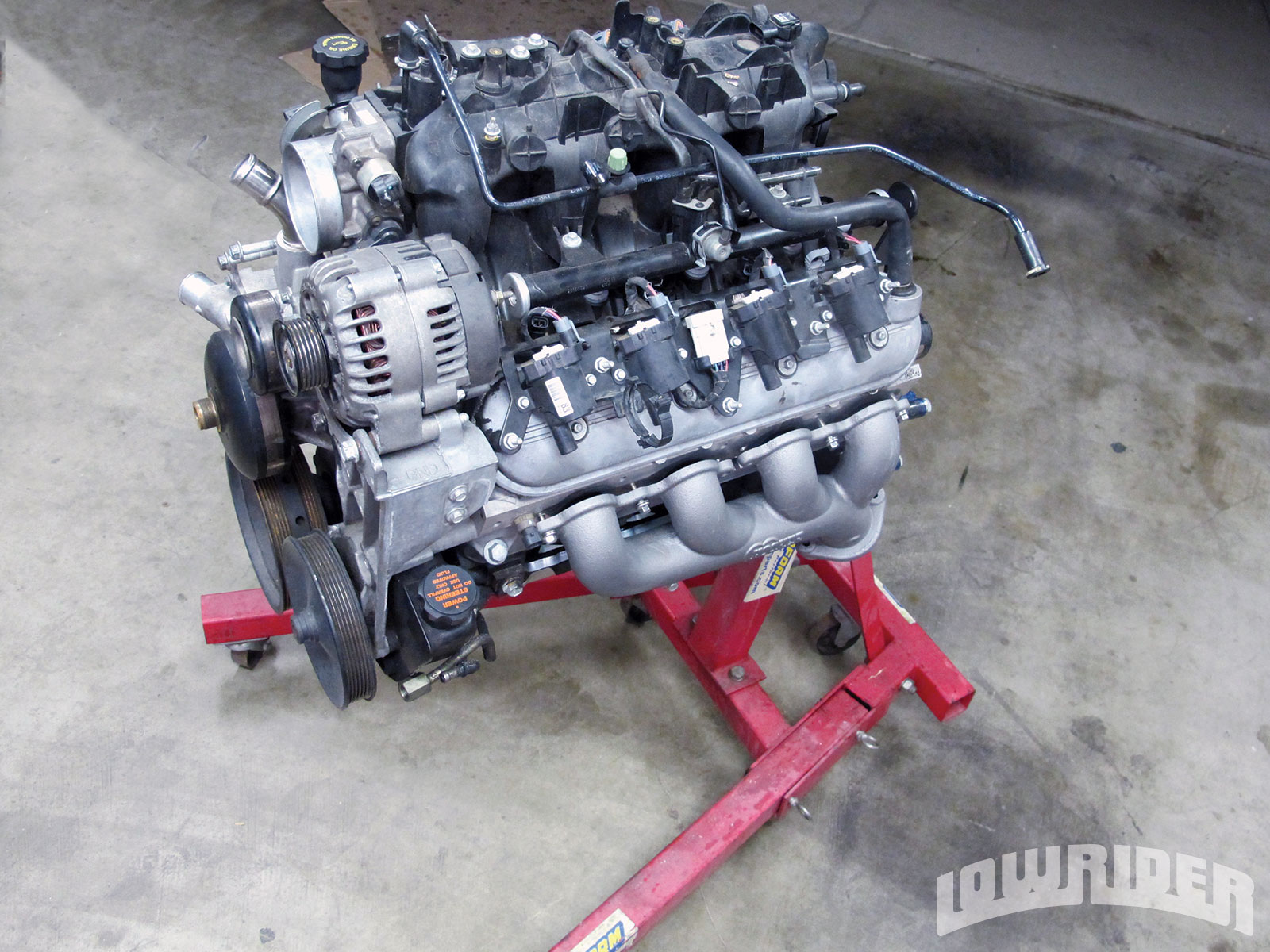 <strong>22</strong>. With all of the minor modifications and test fitting completed, this engine was ready to be transplanted.