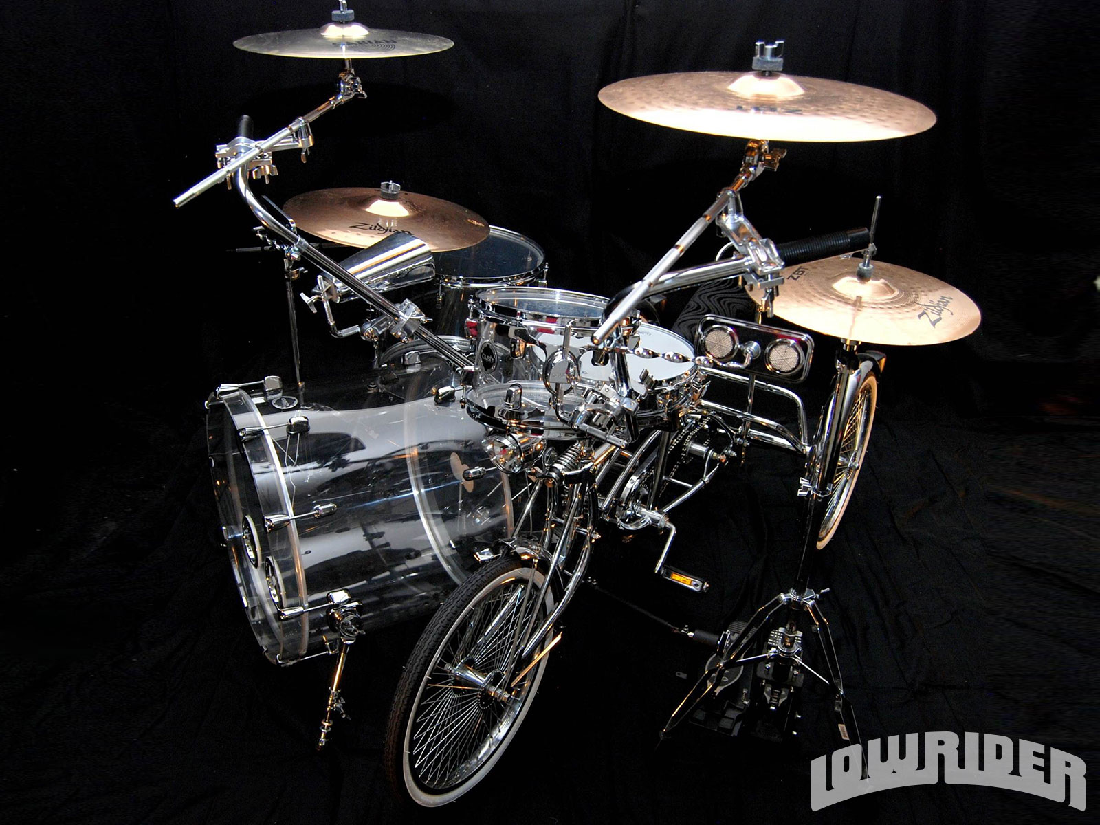 Custom Tricycle Drum Kit Lowrider Magazine