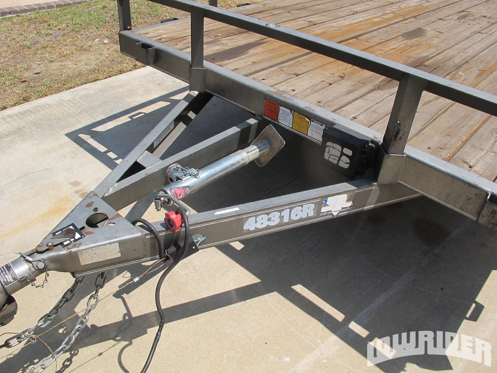 Car Trailer With Electric Winch