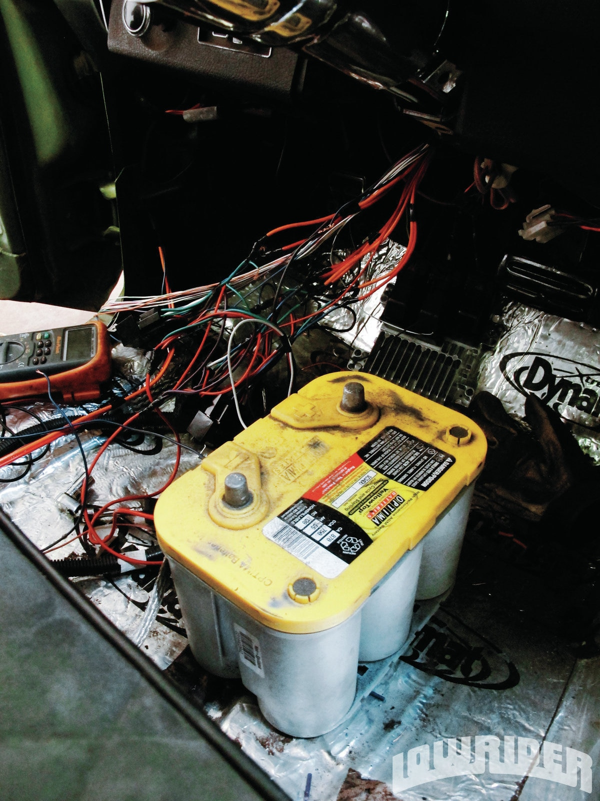 <strong>17</strong>. Using our Optima Battery, we checked the power in the system and made sure everything was working.