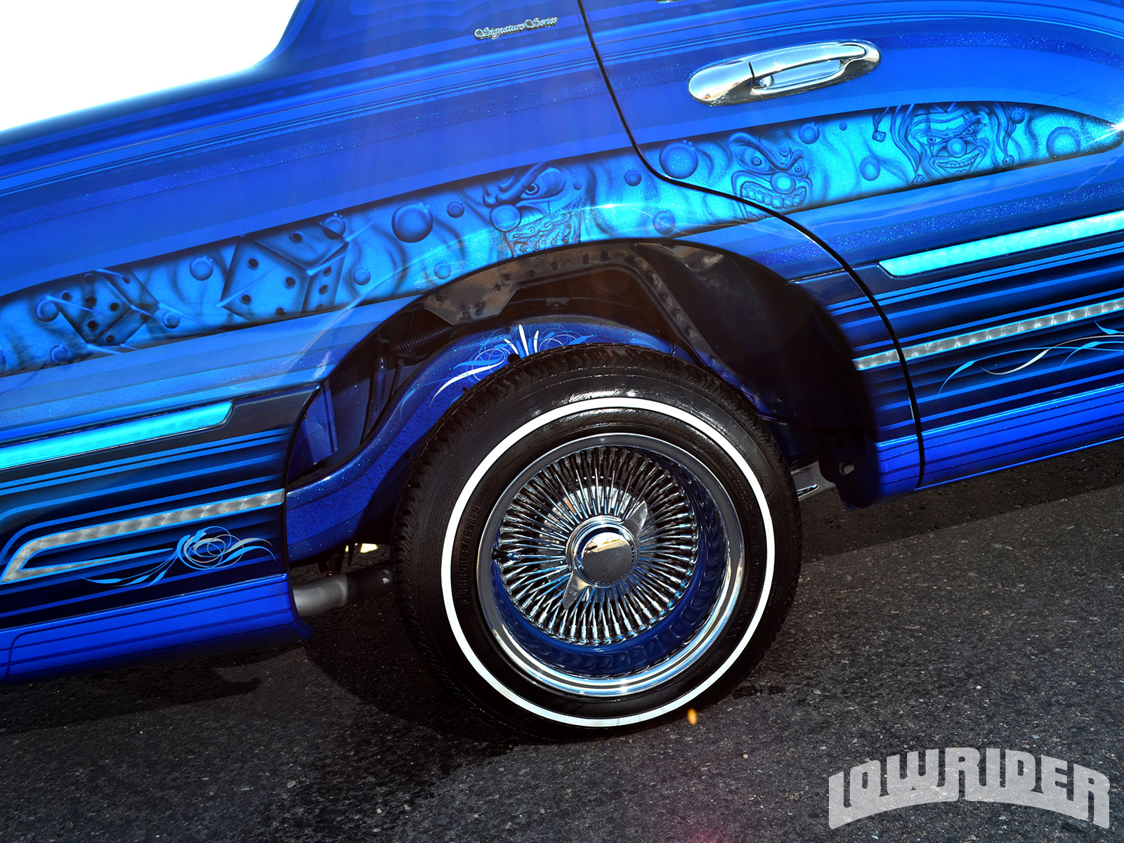 1998 Lincoln Town Car Painted 100 Spokes With Knock Offs Lowrider