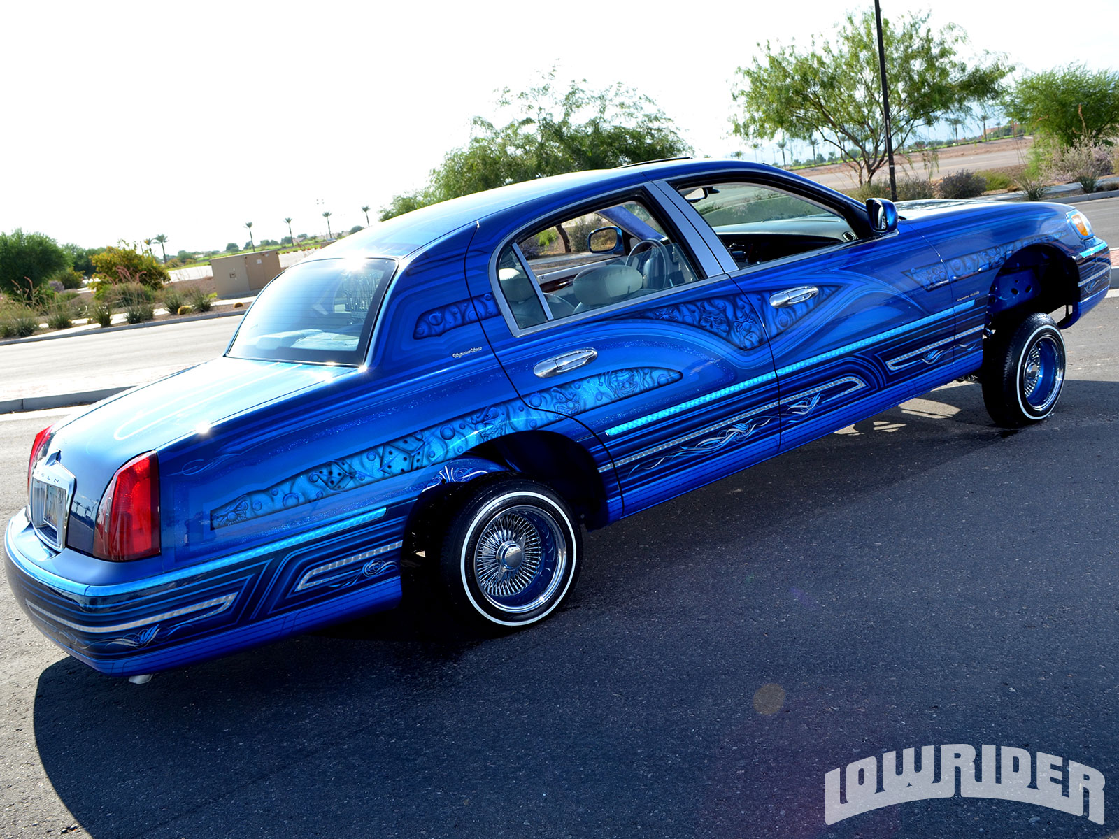 1998 Lincoln Town Car Rear Right Side View Lowrider