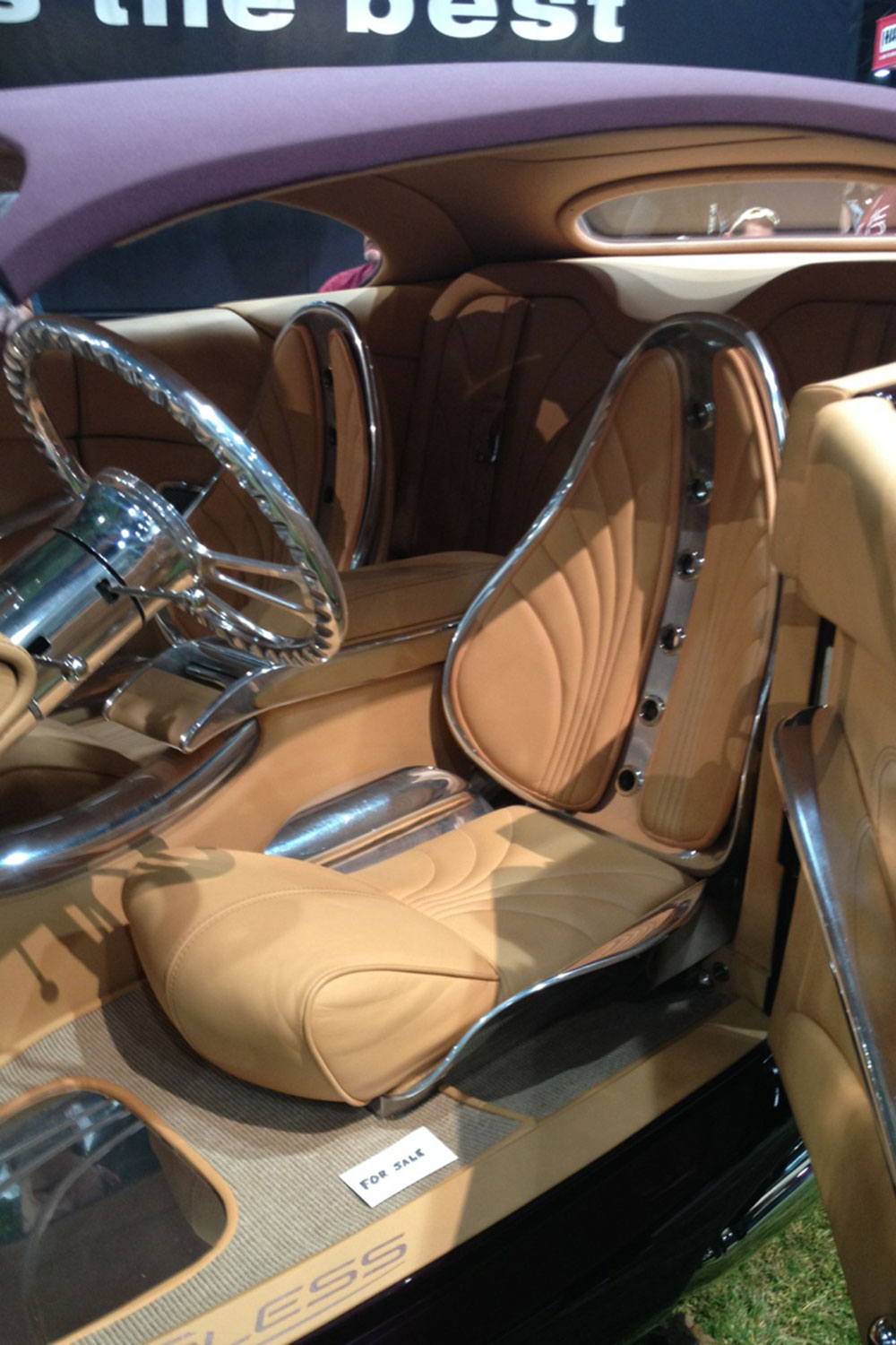 cool custom car interiors at sema lowrider magazine. Black Bedroom Furniture Sets. Home Design Ideas