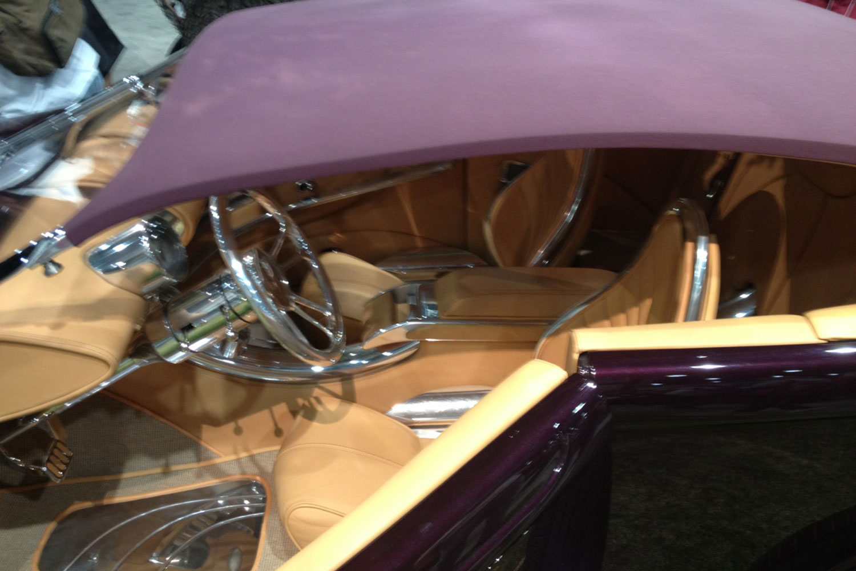cool custom car interiors at sema lowrider magazine. Black Bedroom Furniture Sets. Home Design Ideas