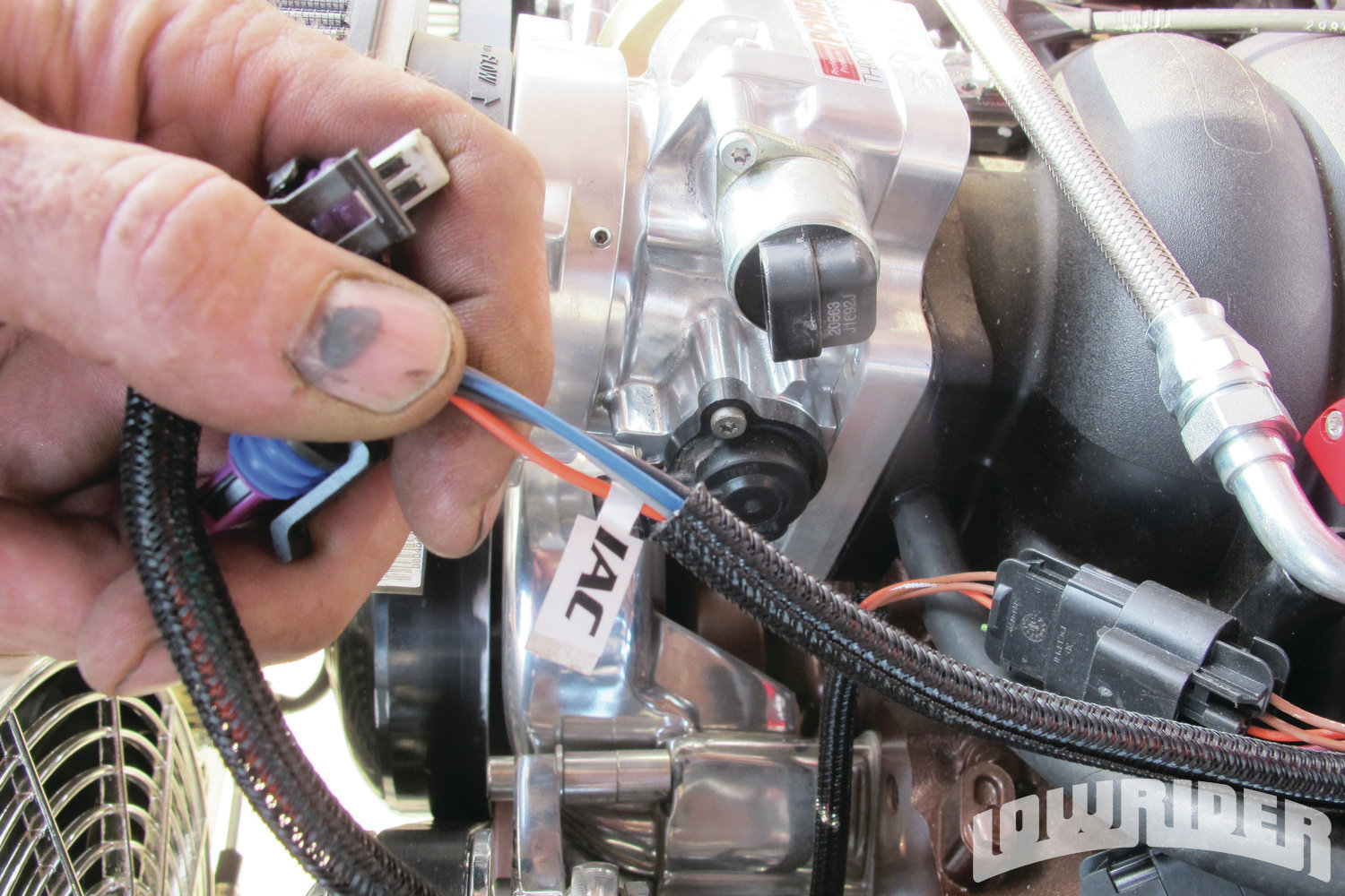 <strong>13</strong>. The cables are labeled, so it makes it easy to plug into the system.