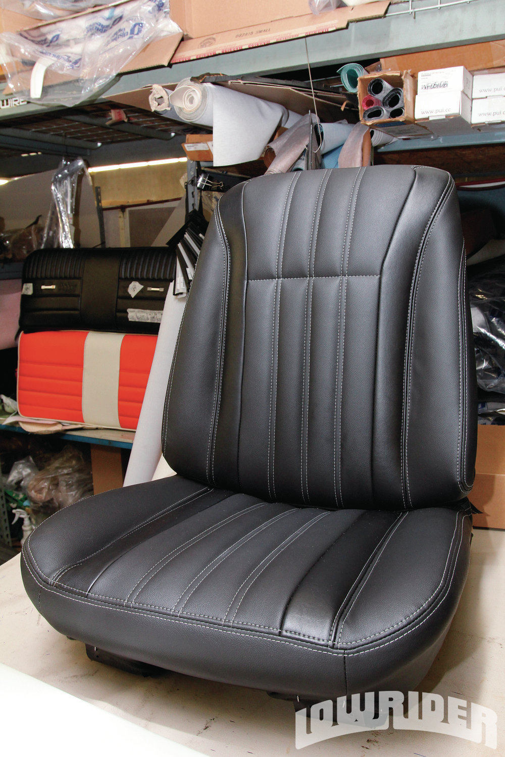 <strong>21</strong>. Here is a look at the completed front seat that the pros over at Distinctive Industries demonstrated a distinct look and style.