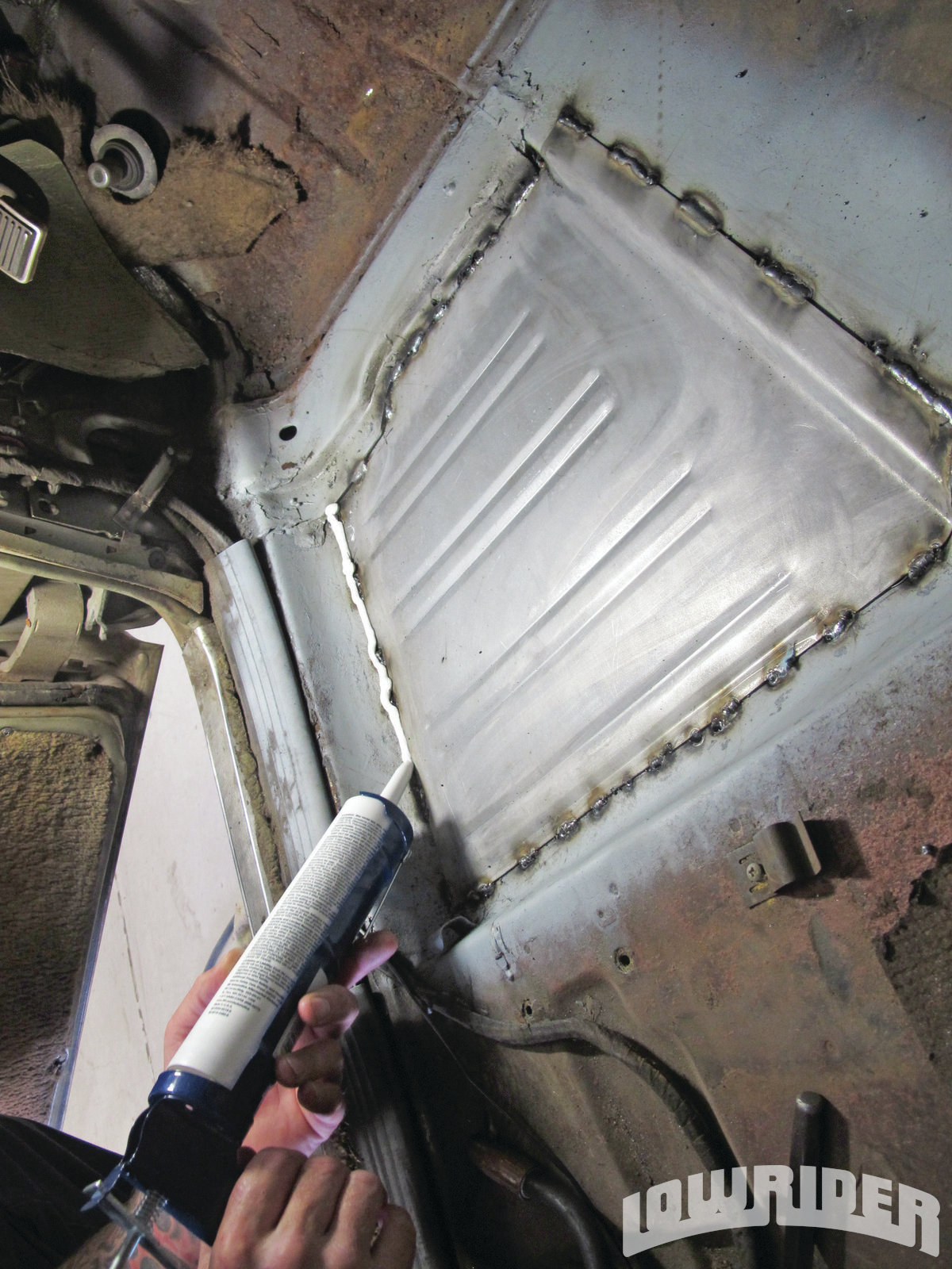 <strong>18</strong>. We used the 3M seam sealer to keep the moisture out of the cab.