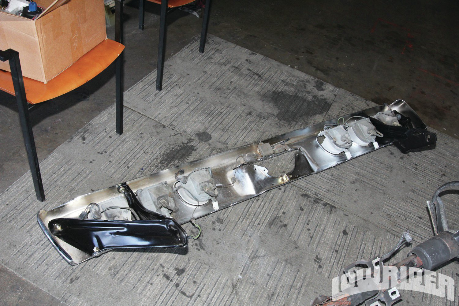 <strong>3</strong>. The re-chromed bumper was ready to be reattached.