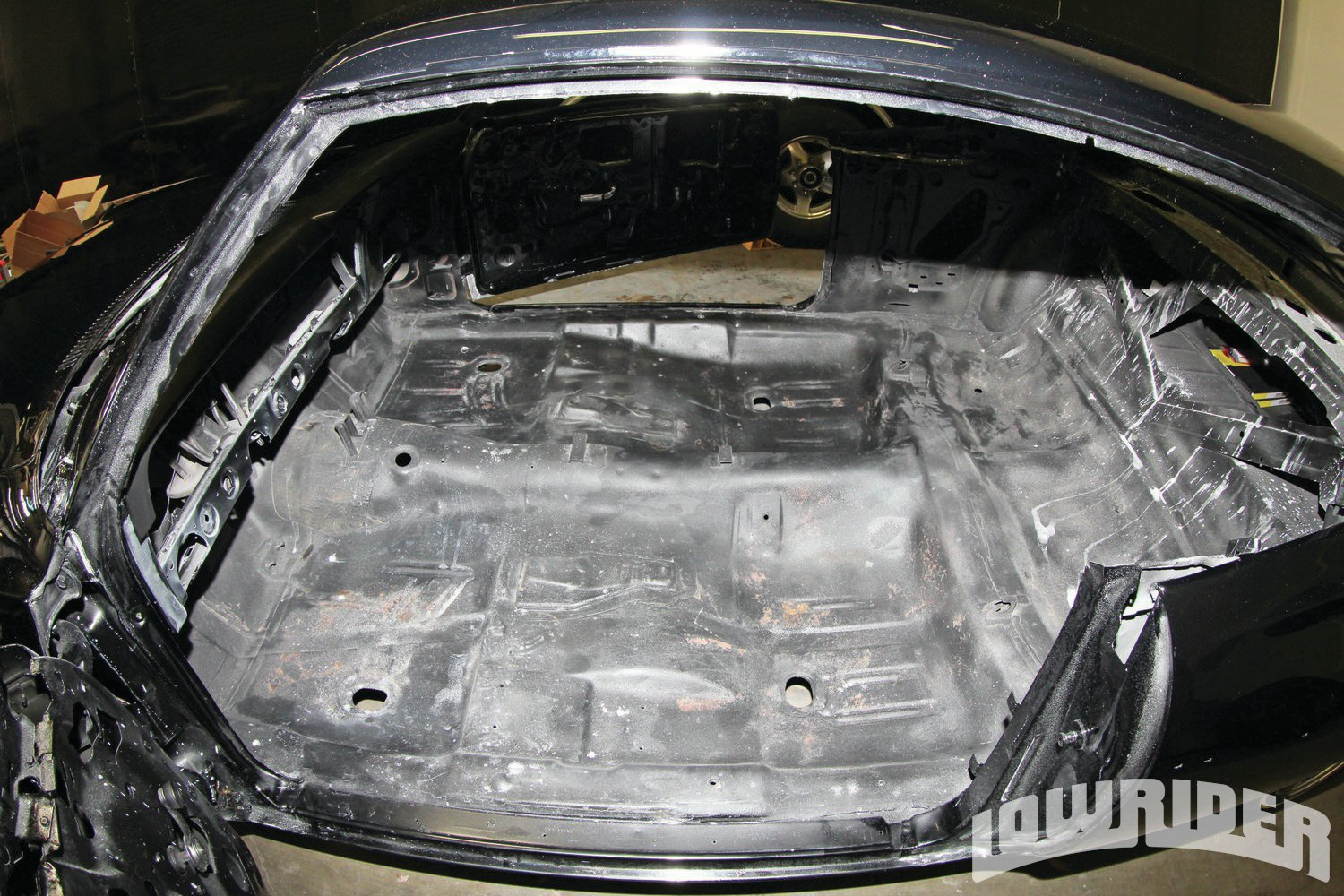 <strong>2</strong>. The interior of this Super Sport was ready for the sound deadening.