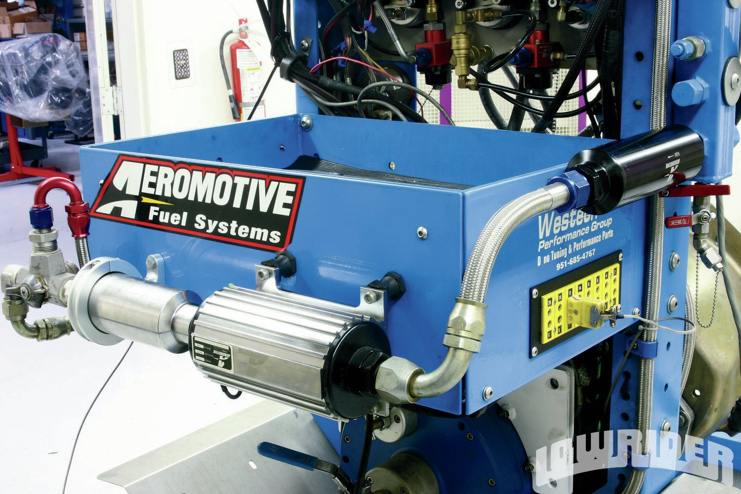 <strong>11</strong>. Before increasing the power output of your LS motor, make sure you have sufficient fuel. This A1000 system from Aeromotive insured we had more than enough fuel for our modified motor.