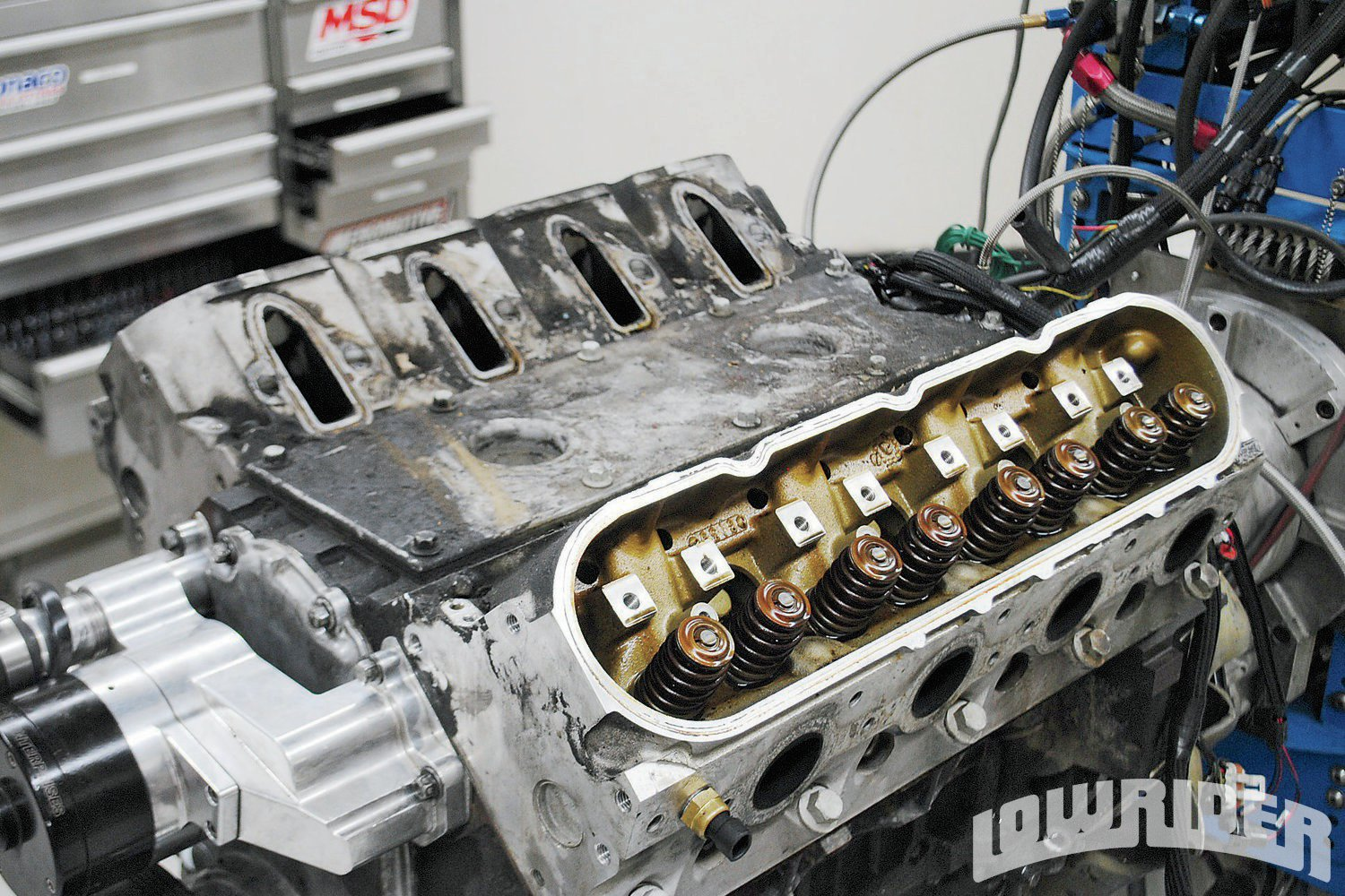 <strong>3</strong>. Not exactly your typical spotless crate motor, our test mules were dirty, oily, and had seen countless thousands of abusive miles. Despite this, both offered surprising power and we wouldn't hesitate to swap one into our favorite Impala or Monte Carlo.