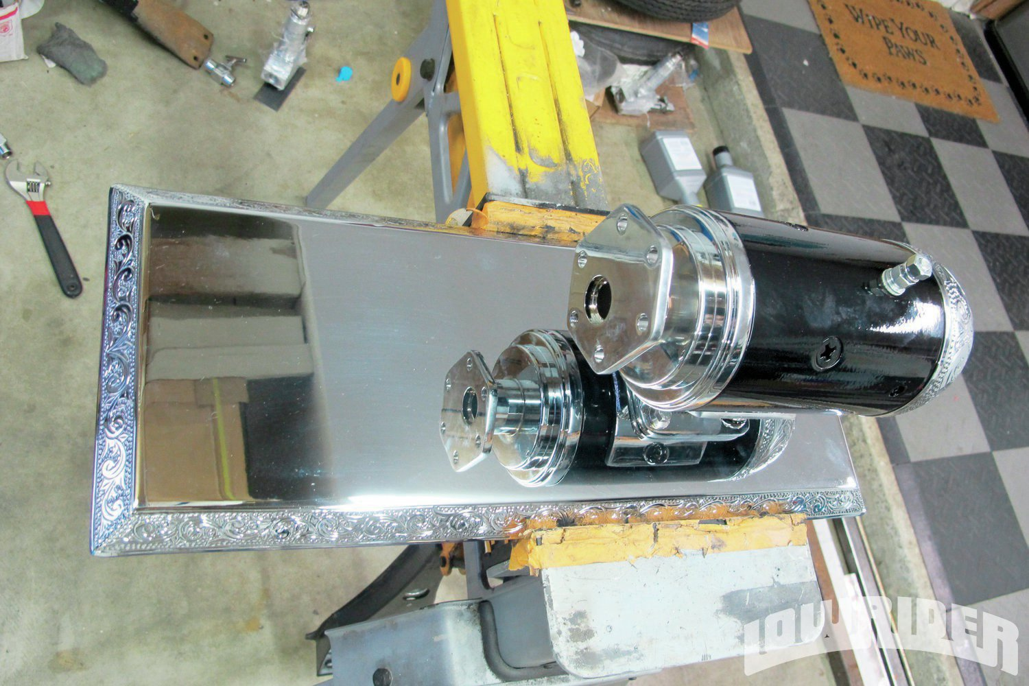 <strong>20</strong>. The Empire Customs gravity feed pump was bolted on.