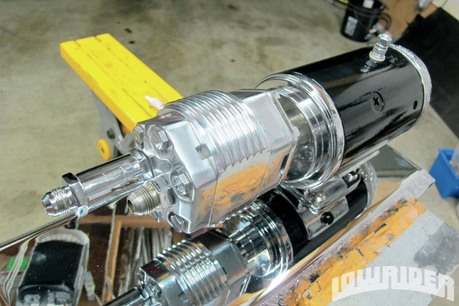 <strong>21</strong>. We wanted to make sure that we had no leaning, so we included a safety check valve, located directly off the machined pump head.