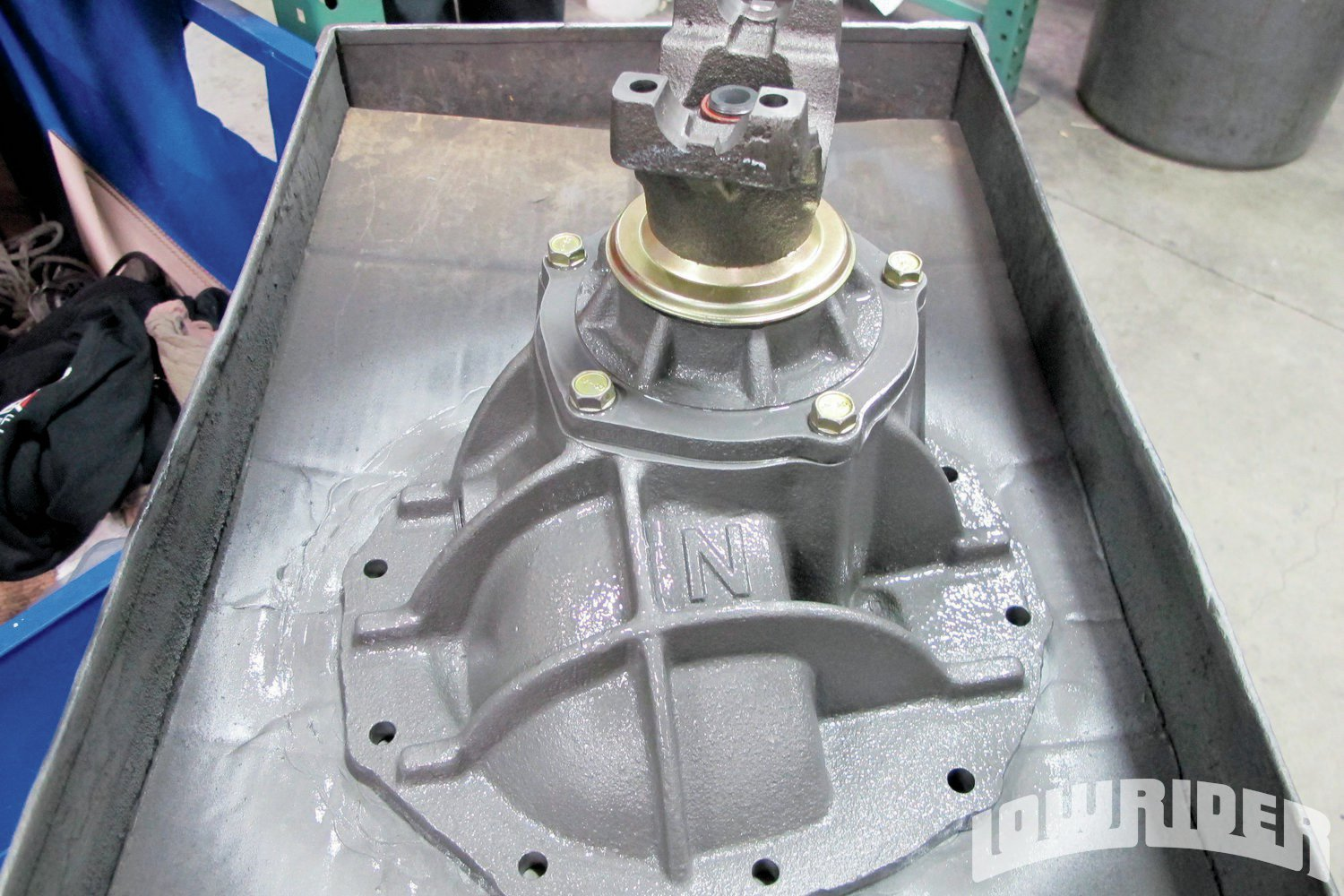 <strong>22</strong>. To make sure that the bare metal did not rust up it was protected with a high heat coating.