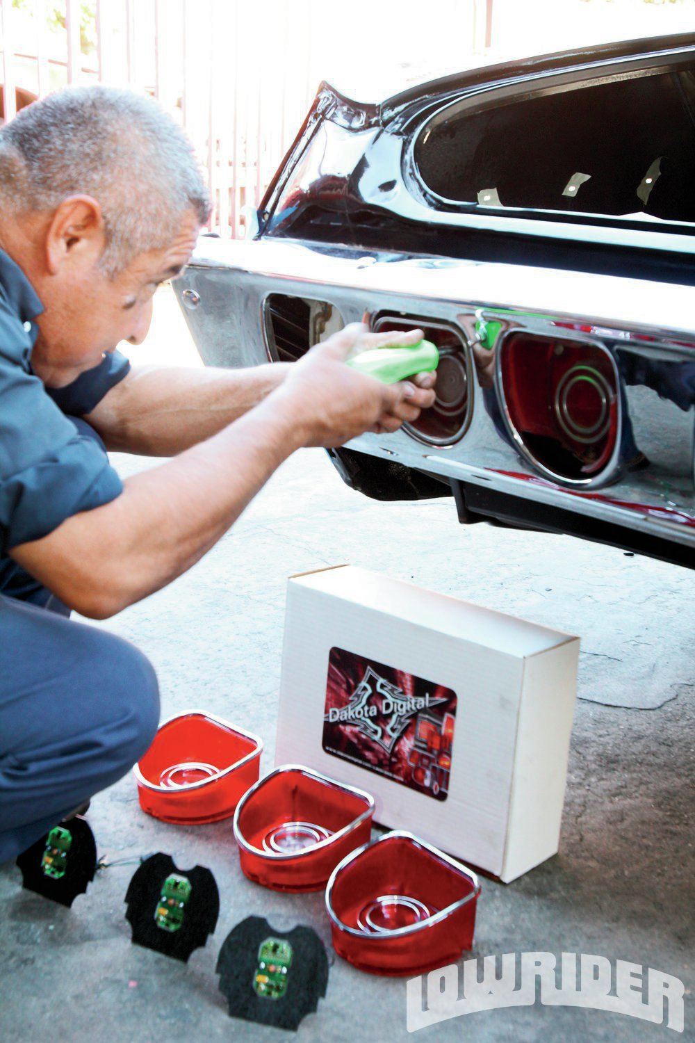 <strong>1</strong>. We begin to change up the taillights on our classic Impala.
