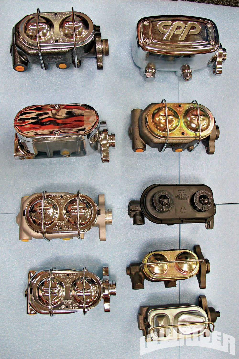 <strong>1</strong>. As you can see there are several choices when adding a newer style master cylinder for your choice of braking system.