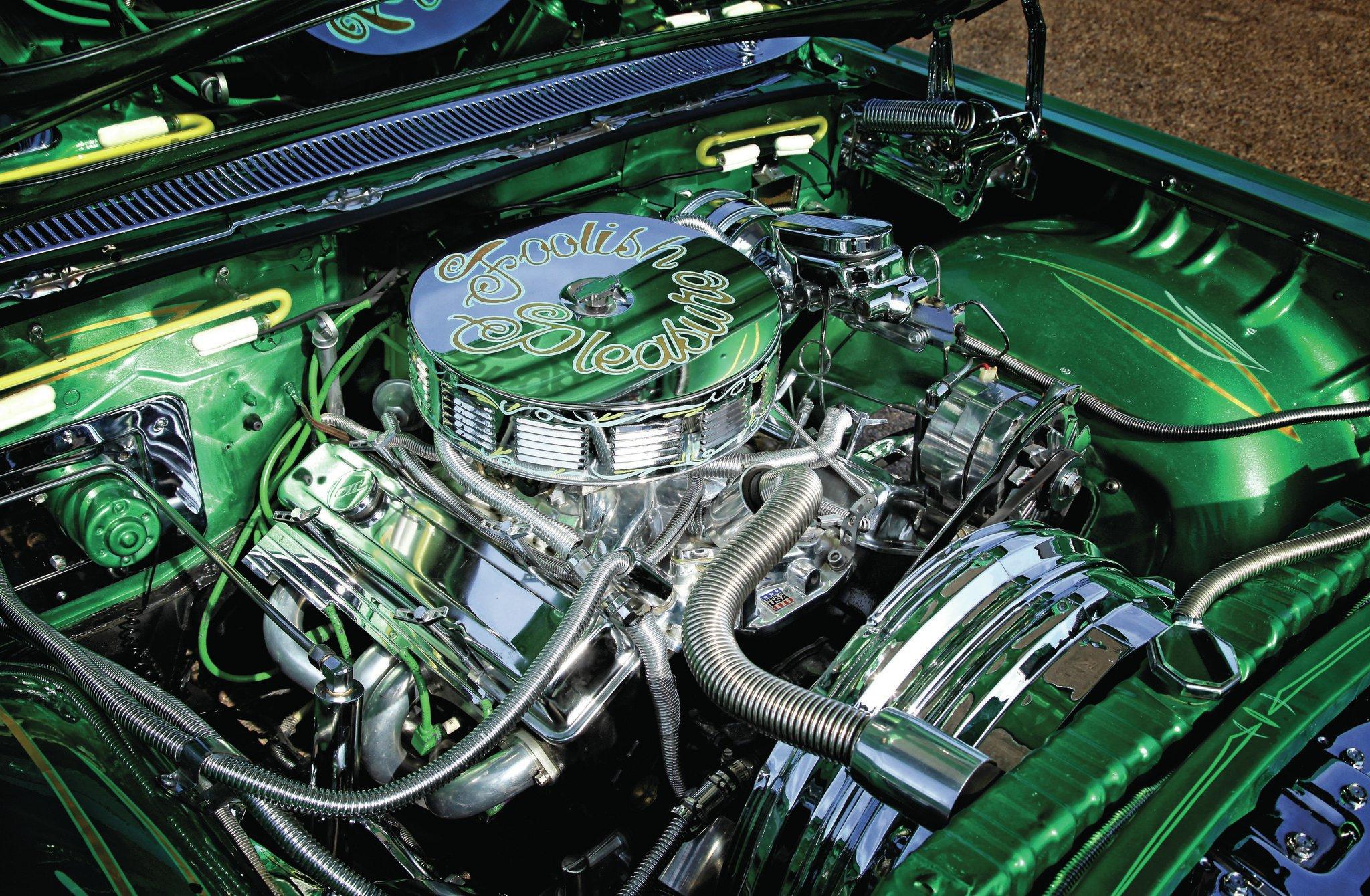 Chevrolet El Camino Chrome Engine on 1959 El Camino