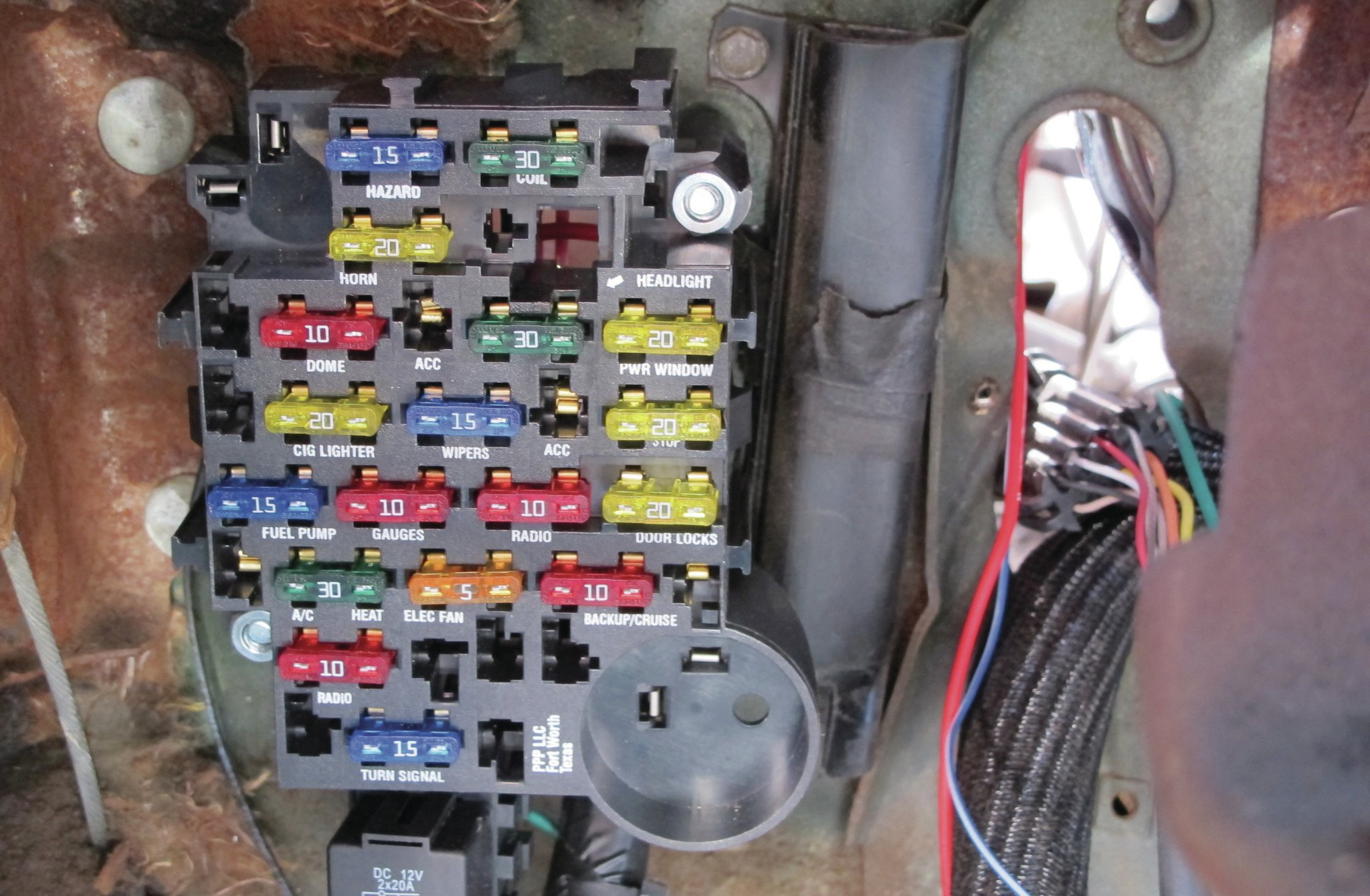 Painless Wiring Kit Detailed Fuse Box on Battery Wiring Diagram Jeep Cj7