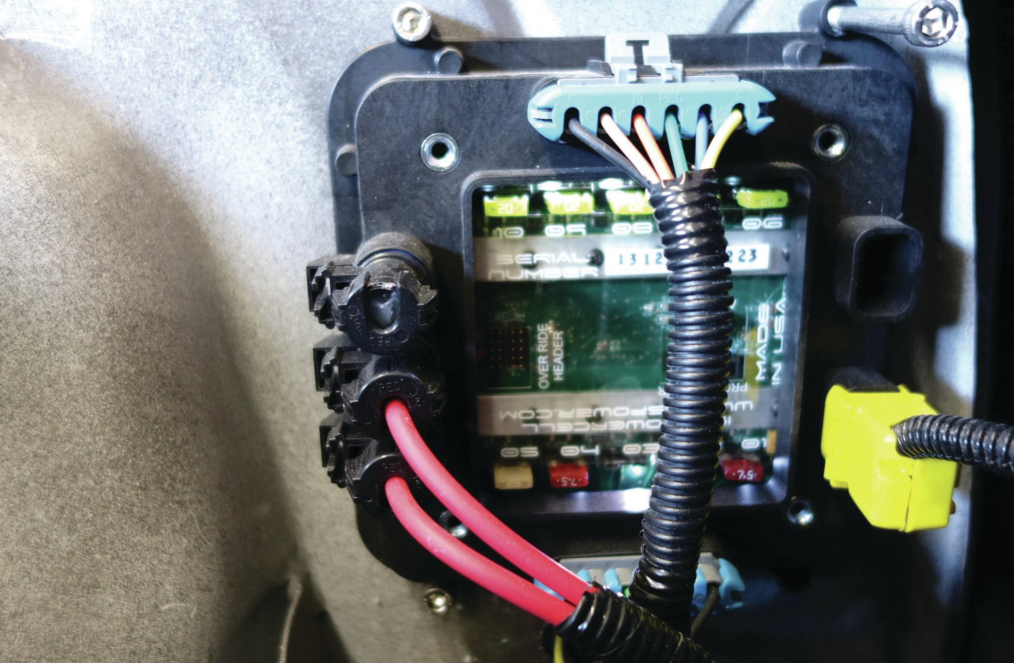 all wired up isis power systems rh lowrider com Ford Wiring Harness Kits Wiring Harness Diagram